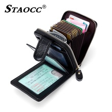 Rfid Genuine Leather Wallet Driver License Purse Card Holder Coin Purse Women Men Slim Zipper Small Wallet Cowhide Wallets Short rfid booking women wallets double zipper genuine leather wallet women purse small short clutch lady handy bag card holder wallet