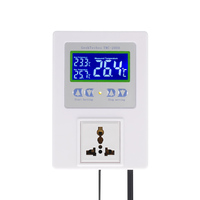 New Digital Intelligent Temperature Controller Pre wired thermal regulator with Sensor Thermostat Heating Cooling Control Switch
