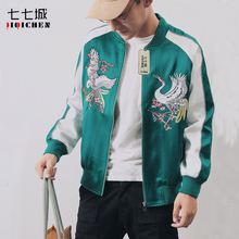 2019 Mens Bomber Jacket Embroidery Jacket Men Couple Army Green Baseball Jacket Men Spring Pilot Jacket