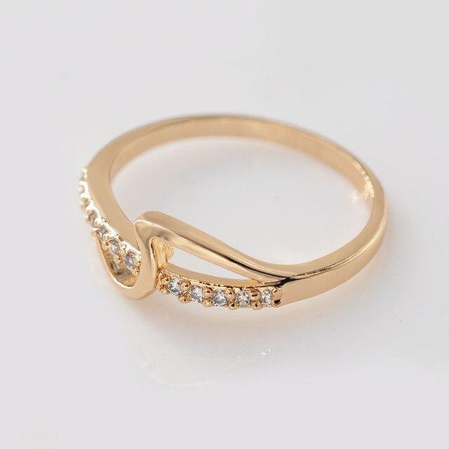 MxGxFam Lood en Nikkel Gratis 18 k geel Goud-kleur Creatieve Ringen Mode Vrouwen Sieraden AAA + Zirkoon