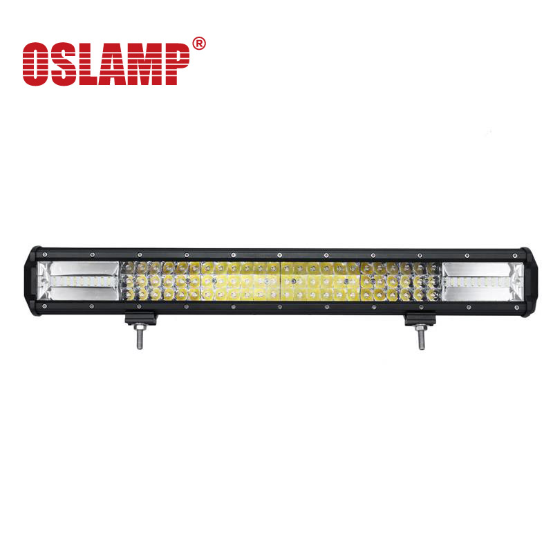 Oslamp Chips LED Work Light Bar Offroad 3 Rows Spot Flood Led Bar Combo Beam Truck SUV ATV 4x4 4WD 12v 24v Driving Lamp oslamp 32 300w cree chips led work light bar offroad led bar lights combo beam led driving lamp for truck suv 4x4 4wd 12v 24v