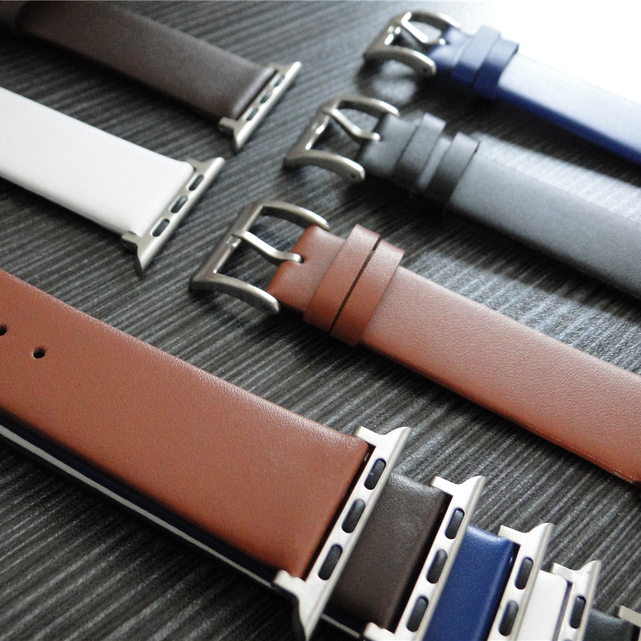 luxury Genuine Leather Replacement Strap Watchband for Apple Watch Series 3 2 1 42MM 38MM for iWatch 123 Vintage Band watchband vintage red brown crazy horse genuine leather watchband for apple watch 38mm 42mm women men replacement band strap for iwatch