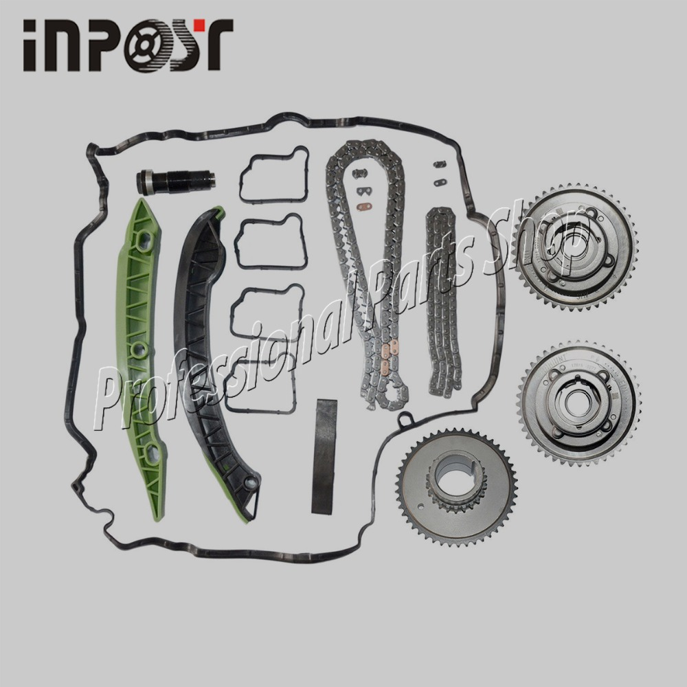 Exhaust Intake Adjuster Actuator Timing Chain Kit Camshaft for MERCEDES M271 W203 W204 E250 C250 SLK250