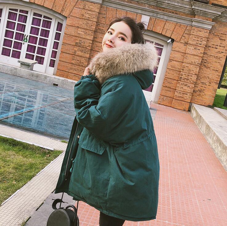 Sucrerie De Coton Ouate Manteau La D'hiver Feminina Femmes Jaqueta Couleur Plus 1 Capuchon Longue Taille 2019 Veste Parka Rembourré 2 À Femelle Chaud PiXukTOZ