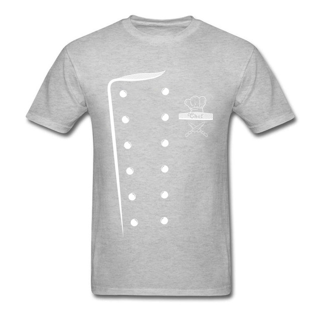 08db5d70a Chef Costume Design T Shirt Print Men Cooks T Shirt Uniform Tshirt O ...
