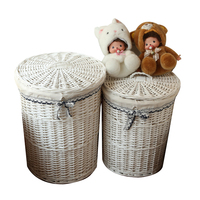 Dirty Laundry Storage Basket Home Storage Simple Decoration Organizer Garden Pot Wicker Laundry Bag Laundry Hamper With Lid