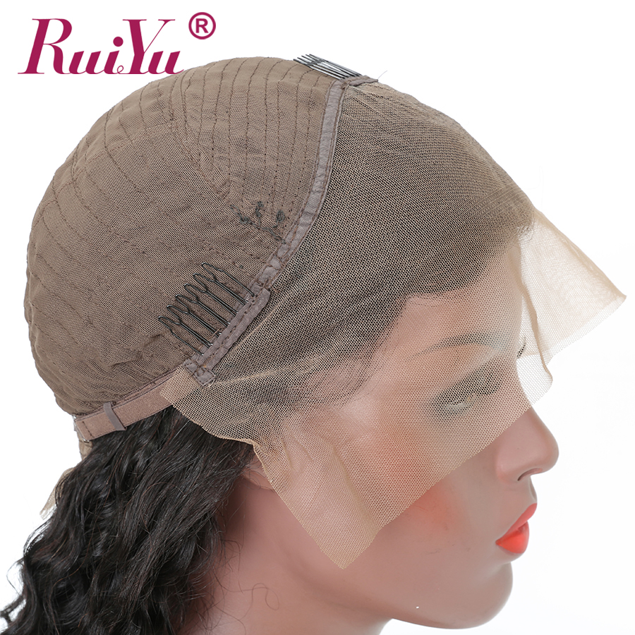 Rambut keriting rambut keriting keriting RUIYU Lace depan rambut - Rambut manusia (untuk hitam) - Foto 6
