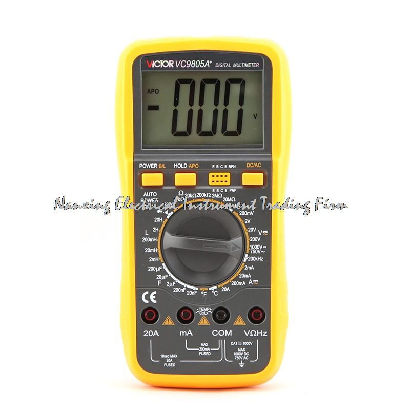 ФОТО VICTOR 2000 Counts 20A 1000V Resistance Capacitance Inductance Temperature Victor Digital Multimeter VC9805A +