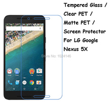 Tempered Glass / Clear PET / Matte PET -- Screen Protector Protective Film Protection Guard For LG Google Nexus 5X 5.2""