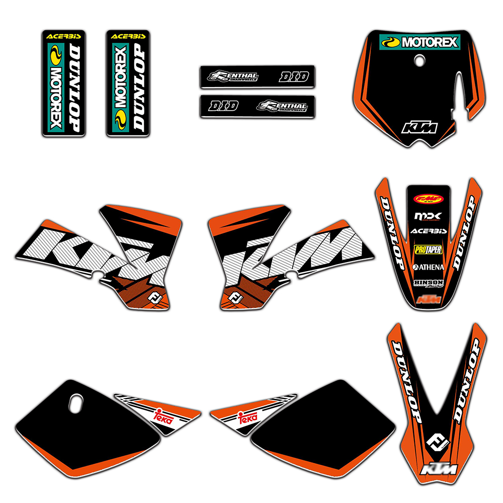 Equipe Gráficos Decalques Adesivos Deco Para KTM 50 SX50 MINI AVENTURA MTK50 2002 2003 2004 2005 2006 2007 2008