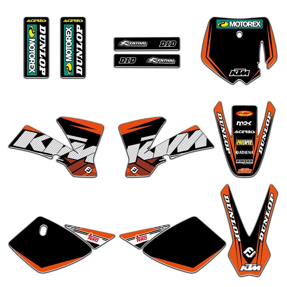 Motorbike Team Graphics Decals Stickers Deco Set For KTM 50 SX50 SX 50CC MINI Adventure MTK50 2002 2003 2004 2005 2006 2007 2008