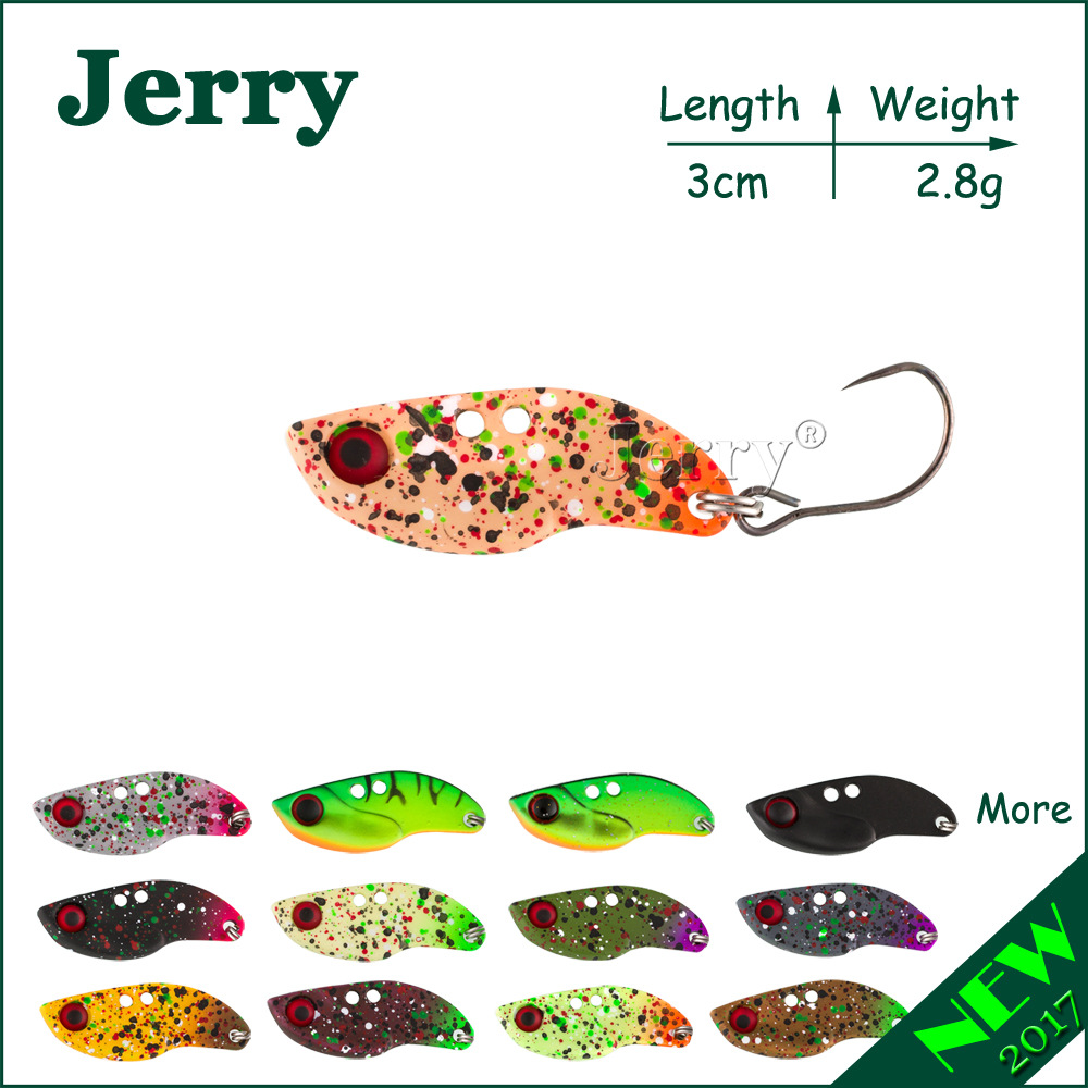 Jerry 1 adet 2.8g balıkçılık bıçak VIBEs dudaksız crankbait ultralight mikro lures Japonya alabalık lures sert vücut yem metal VIB cazibesi