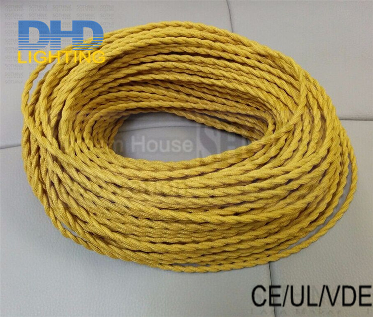 8m/lot Free shipping Antique Cloth Covered Electrical Cord Vintage ...