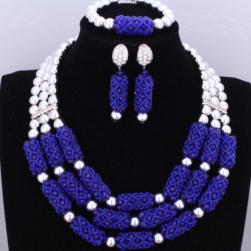 Dudo Orange incroyable perles africaines bijoux ensembles cristal collier ensemble mariage nigérian mariée 3 Pics ensembles livraison gratuite 2018 or - 4