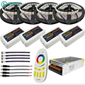 DC12V RGBW SMD5050 Led Strip light 4 colors in 1 LED Tape 60leds/m + Mi-light controllers + Power supply for home decoration