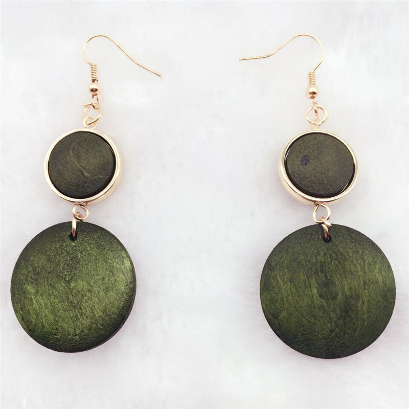 pair Latest good quality new design personality handmade natural african wood earrings jewelry lot