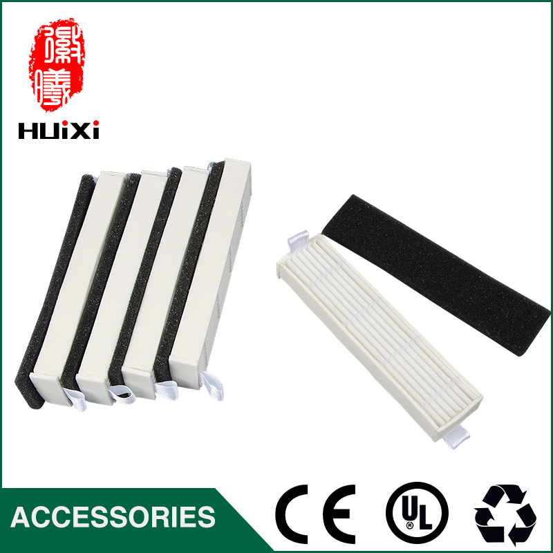 5 sets 110*27mm Vacuum Cleaner HEPA Filter to Filter Dust for D36A TEK TCR-S TCR-S2 TCR660 M1 Robot Vacuum Cleaner Accessories 5x ecovacs hepa filter and 5x fine filtration cotton replacement for d36a tek tcr s tcr s2 tcr660 m1