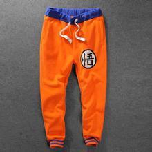 Männer dragon ball jogger hosen anime dragon ball z goku fleece jogger neue 2017 herren orange jogginghose kostenloser versand