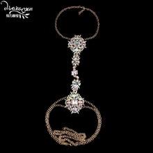 Dvacaman Facebook Flower Rhinestone DIY Body Chain Necklace Handmade Long Pendant Choker Body Jewelry Hot Sexy Beach Chain Z31