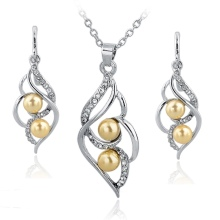 TOUCHEART Simulated Pearl Indian Wedding Jewelry Sets for Women Bridal Crystal Gold color Earrings Statement Necklaces