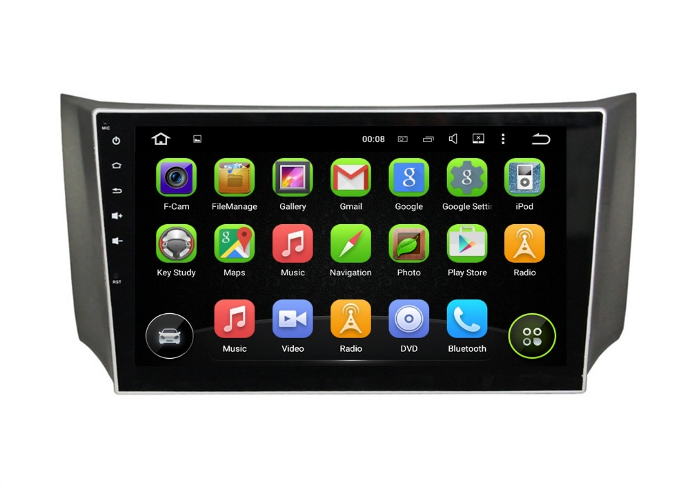 1024 600 Quad Core 10 1 Android 5 1 Car Radio Player for Nissan Sylphy 2012