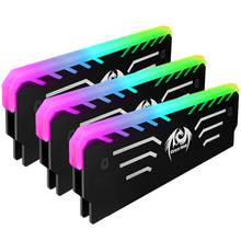 3 pin RGB Memory Vest LED 256 Colors Light Effect Anode Aluminum Cooler Heat Sink Cooling Vest For DIY PC Game RAM DDR3 DDR4(China)