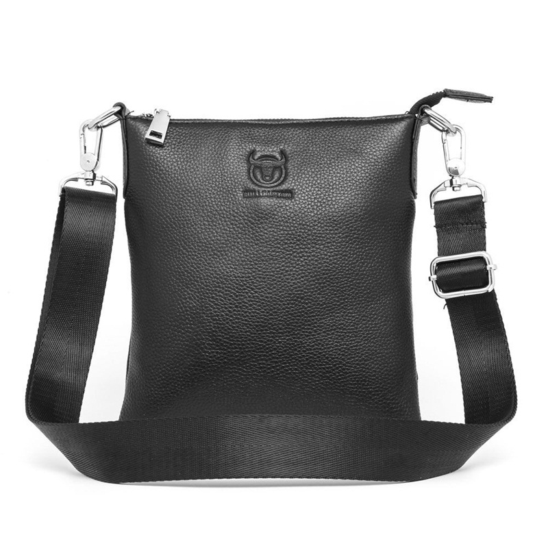 Casual fashion men bag genuine leather small messenger bags cowhide business travel men shoulder crossbody bag black casual canvas women men satchel shoulder bags high quality crossbody messenger bags men military travel bag business leisure bag