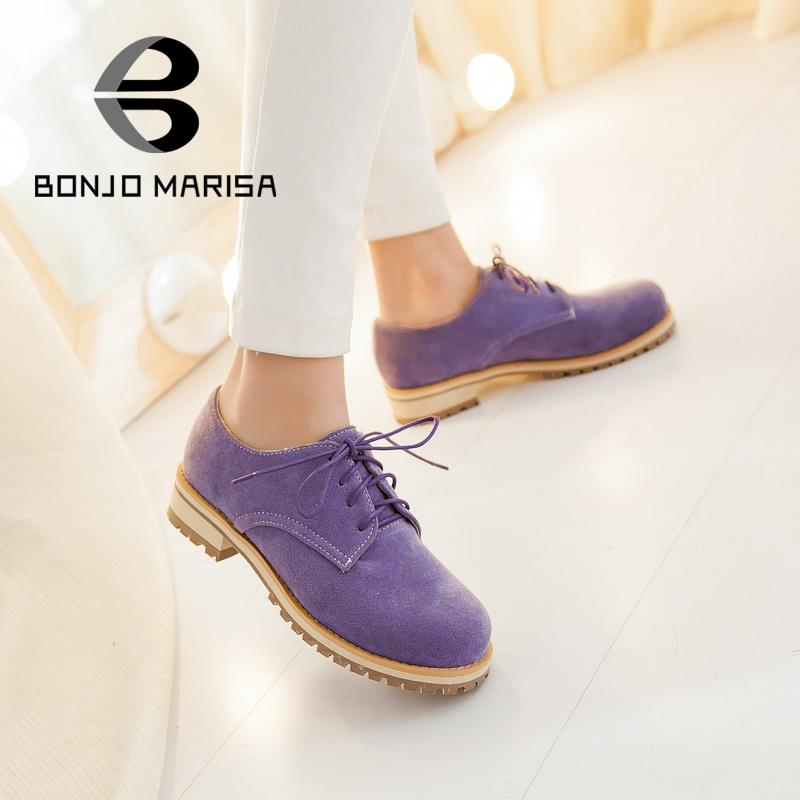 ФОТО Big size 34-43 Flats 2015 New Arrivals Brand Design Rubber Sole Women Lace Up Round toe Women Spring Summer Shoes