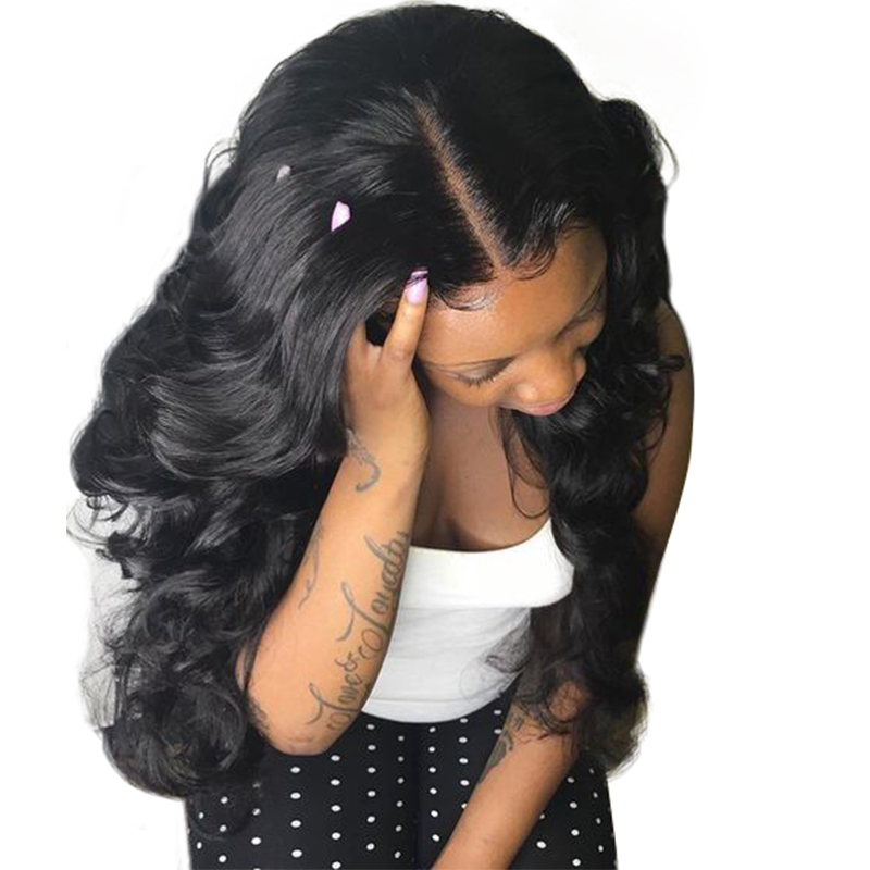 You May Hair 180% Density Body Wave Full Lace Human Hair Wigs For Black Women With Baby Hair Bleached Knots Brazilian Remy Hair