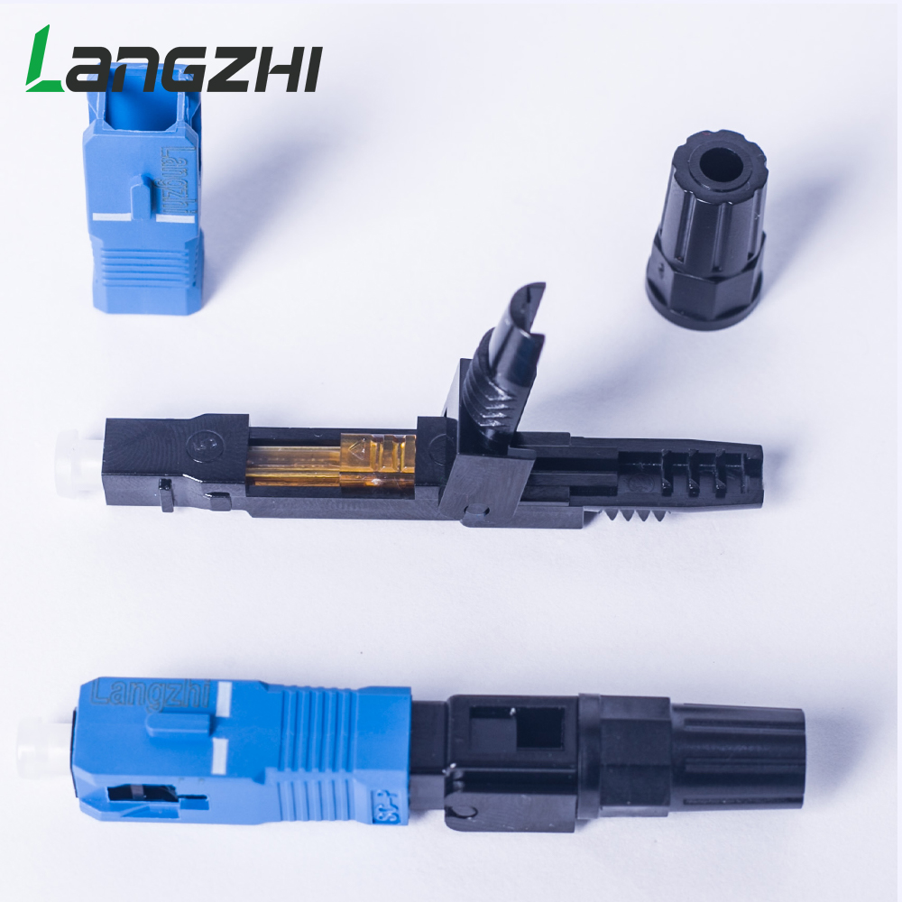Image 5 - SC UPC Fiber Optic Fast Connector 100 SC FAST connector blue 