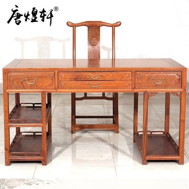 Myanmar Pear Wood Furniture Computer Desk Combination Of Large Fruit  Sandalwood Mahogany Desk Chinese Desk