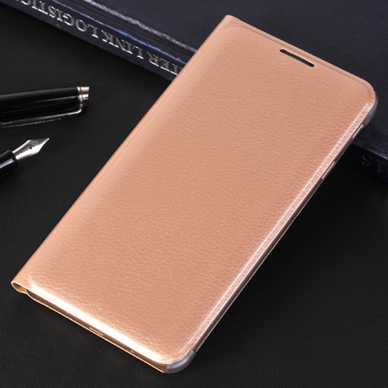 Slim Wallet PU-läderfodral för Samsung Galaxy J7 Prime On7 2016 G610F Flip Back Cover Shell För Samsung J5 Prime On5 2016 G570F