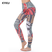 Summer Women Fitness Legging Eggs Colorful Leggings Women Legging High Waist Print Red Russia Sexy Leggings Femmes Slim Fashion