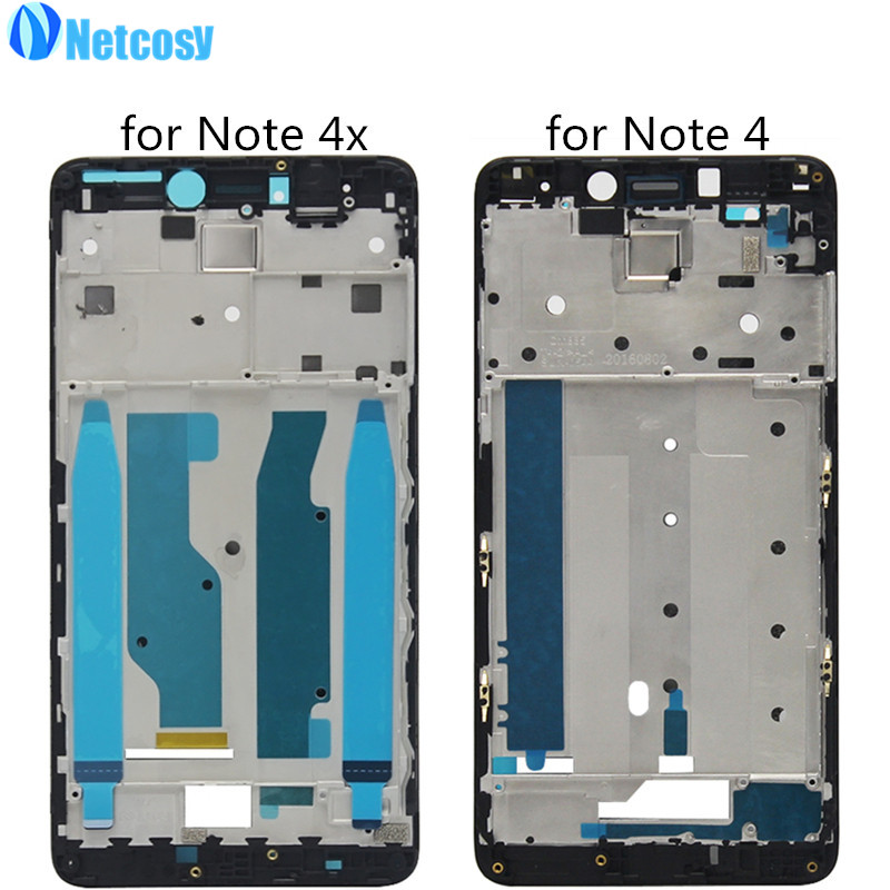 Netcosy LCD Affichage Écran Plaque Cadre Lunette Couverture de Logement Avant Un cadre Conseil pour XiaoMi Redmi Note 4 4x Note4 Note4x Réparation