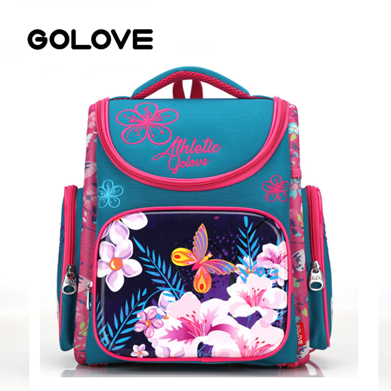 2019 Brand School Bags for girls Embroidered flowers School backpacks  Children Orthopedic Backpack butterfly book bag Grade 1-5 9bcae3db9dfb5