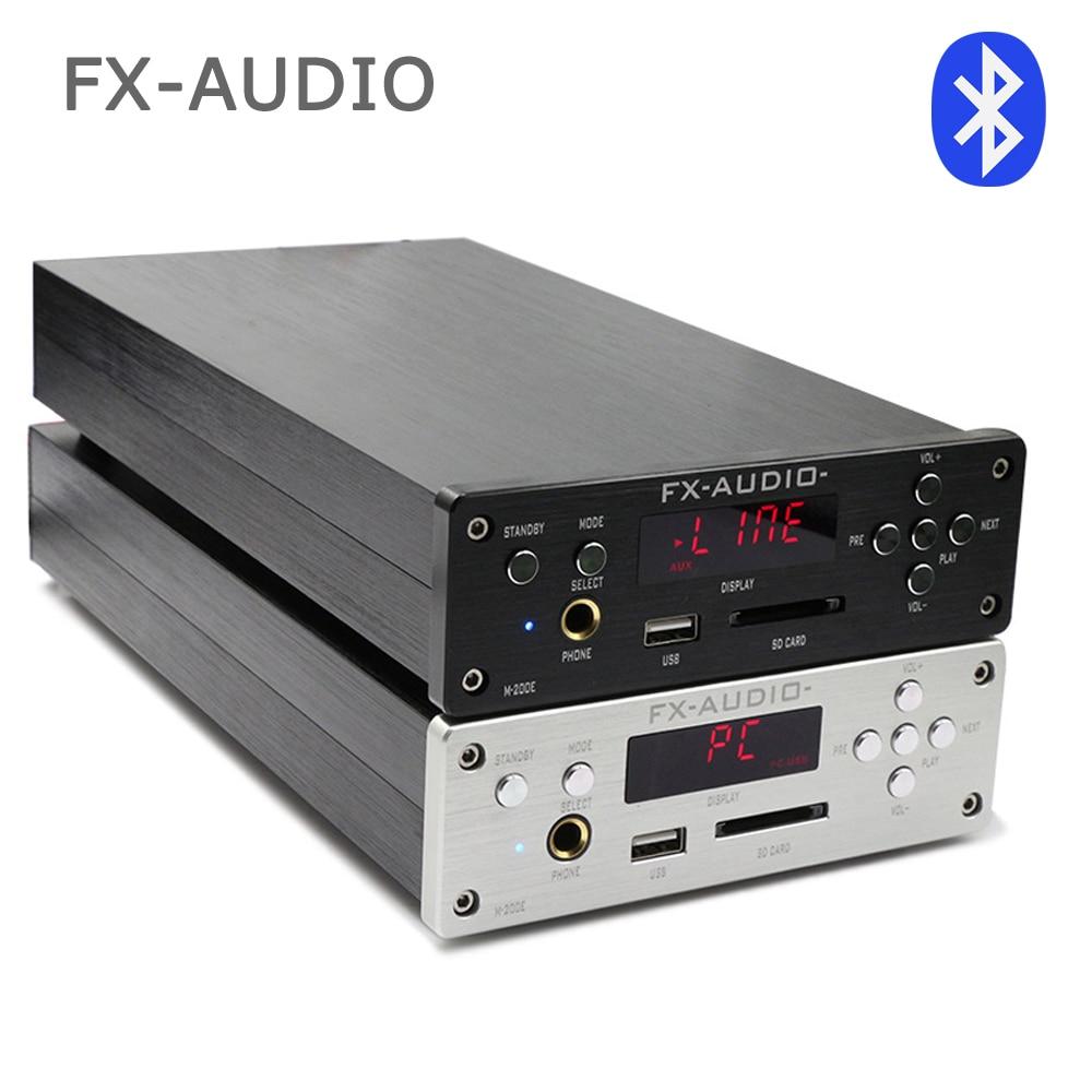 FX-AUDIO M-200E MINI HIFI audio amplificateur haute fidélité support U disque/carte SD sans perte/Bluetooth 4.0/120 W * 2-220 V
