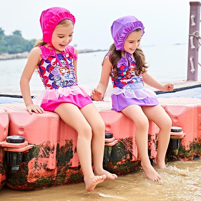 Child Swimwear Girl Swimsuit For Children Junior Girls Bathing Suits 2018 New Beach By S ...