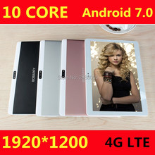 Cheapest 10 inch Deca Core Android 7.0 tablet 4G LTE 4GB RAM 64GB ROM 1920×1200 IPS dual sim Kids Tablets 10 10.1 GPS Tablets