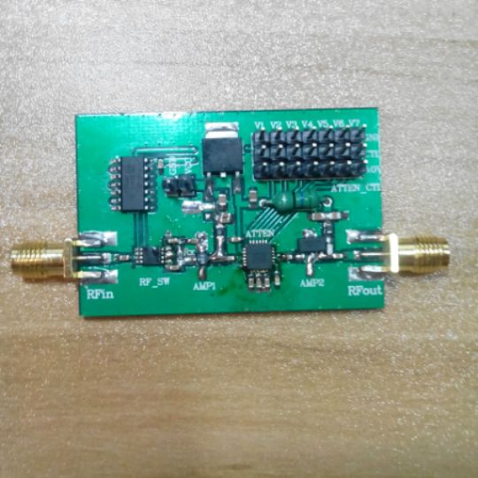 RF Programmable Amplifier 0.1-1000MHz, Gain 52dBRF Programmable Amplifier 0.1-1000MHz, Gain 52dB