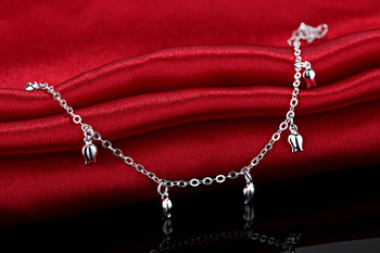 New Fashion Summer Sexy Silver Rose  Anklet for women  Pendant Chain Ankle Bracelet Foot Jewelry 3