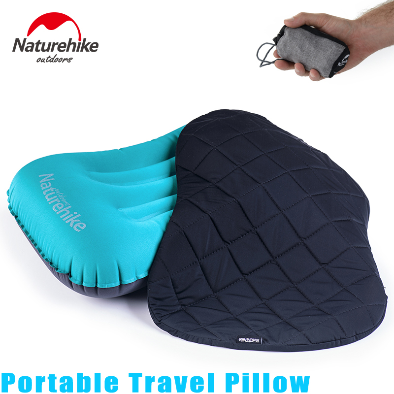 Ultralight Inflating Travel Pillows Compressible Compact Inflatable Comfortable Ergonomic Pillow For Outdoor Camp Backpacking u shape travel pillow for airplane inflatable neck pillow travel accessories 4colors comfortable pillows for sleep home textile