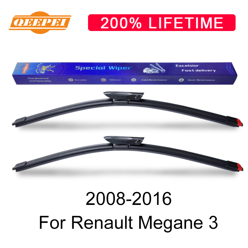 QEEPEI Wiper Blades For Renault Megane 3 2008-2016 High Quality - Auto Replacement Parts