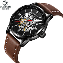 New OCHSTIN Luxury Brand Fashion Mechanical Watches Men Leather Strap Luminous Mens Sport Automatic Watches Male reloj hombre