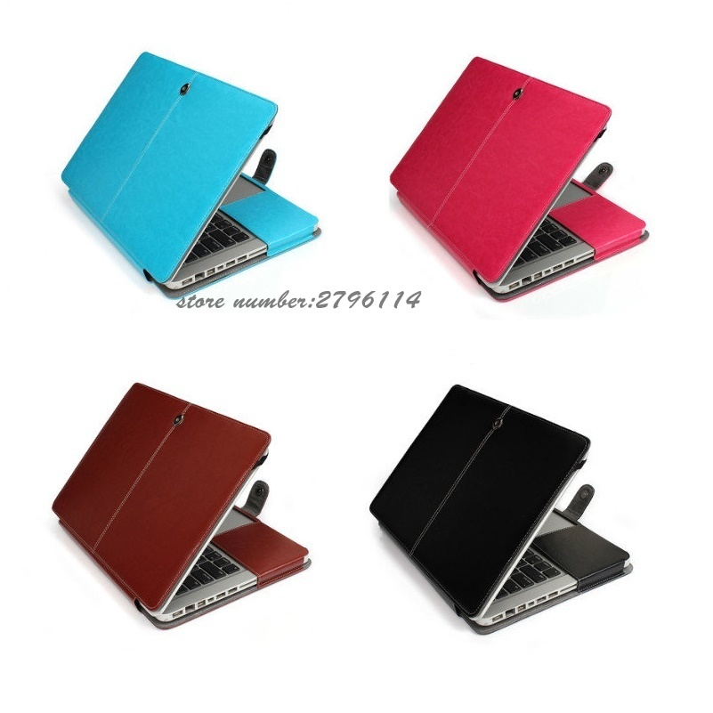 """PU Leather Coated Sleeve Hard Cover Case for Macbook Pro 13//15 Retina Air 11//13/"""""""