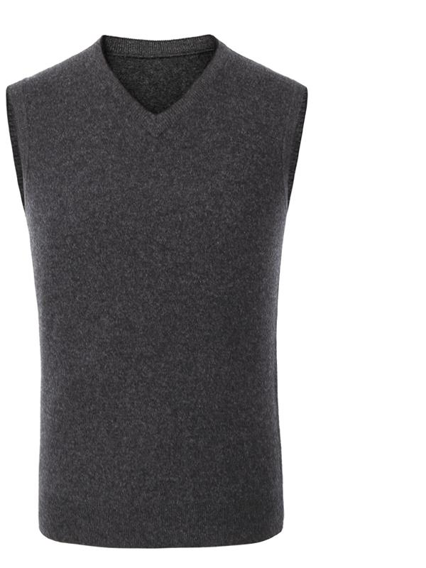 Mens Wool Vest Mens Sleeveless Vest Thick Warm Knit Vest,Sweater Color : Brown, Size : 2XL