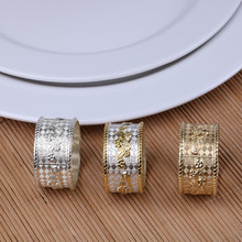 6PCS metal alloy napkin ring family party supplies