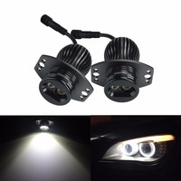 ANGRONG 2x 10W LED Light Angel Eyes For BMW Kit DRL Halo Ring Headlight Lamp For BMW E90 E91 3 Series 6000K White