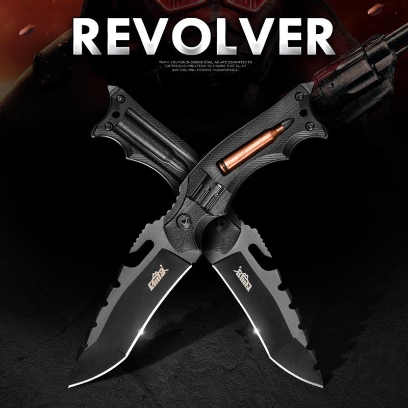 CIMA Bullet Tactical knife! Outdoor survival hunting knife, G10 Handle,AUS-8 Steel