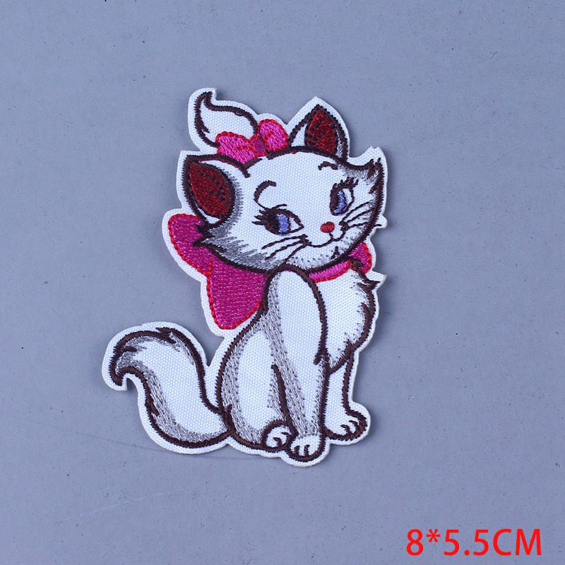 Pulaqi Cartoon Marie Cat patch For Clothing Sticker Iron On Patches For Clothes Sticker On Clothes Applique Stripe DIY Badge F in Patches from Home Garden