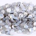 Ss5 (1.7-1.9mm) Blanco Ópalo de non-hotfix Rhinestones, 1440 unids/lote, Posterior plana Nail Glue Arte En Piedras de Cristal